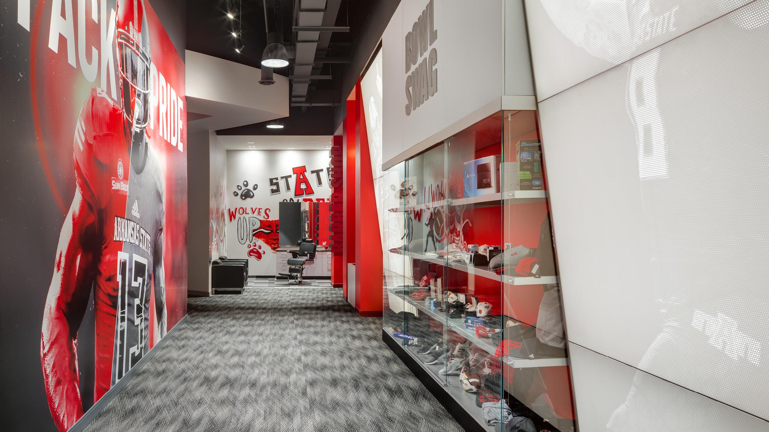 ASU Football opps inside barber shop