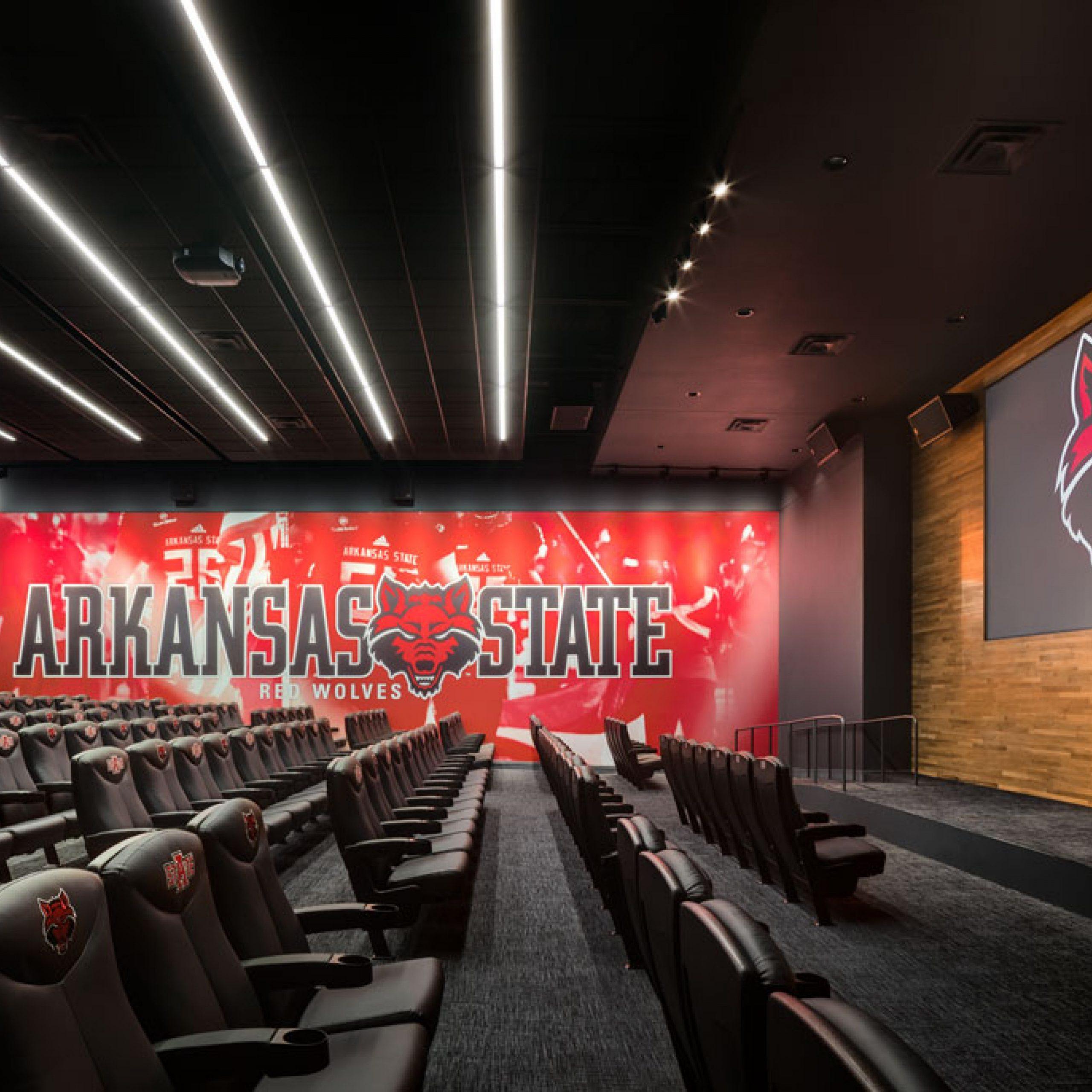 ASU Football opps inside theater room