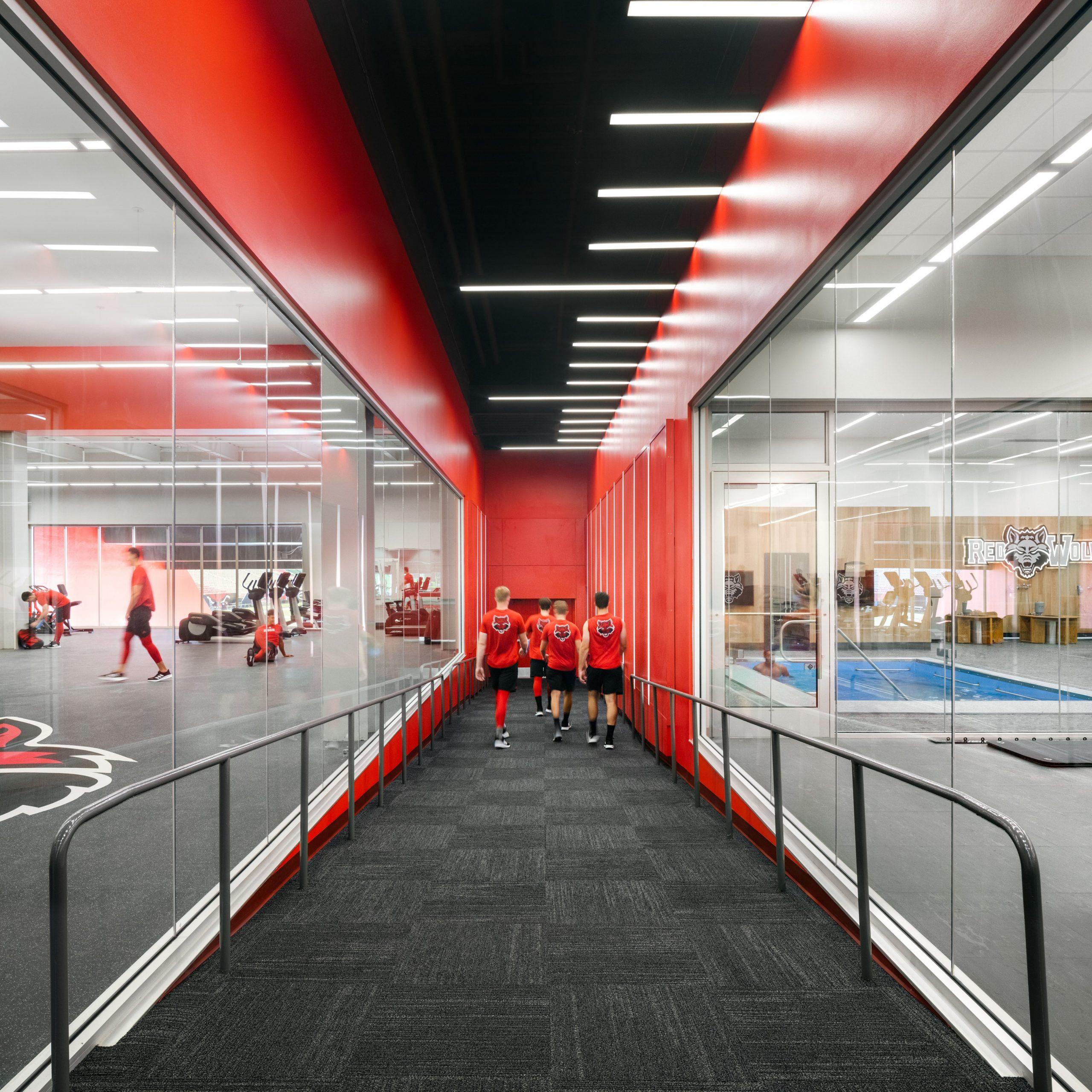ASU Football opps inside tunnel