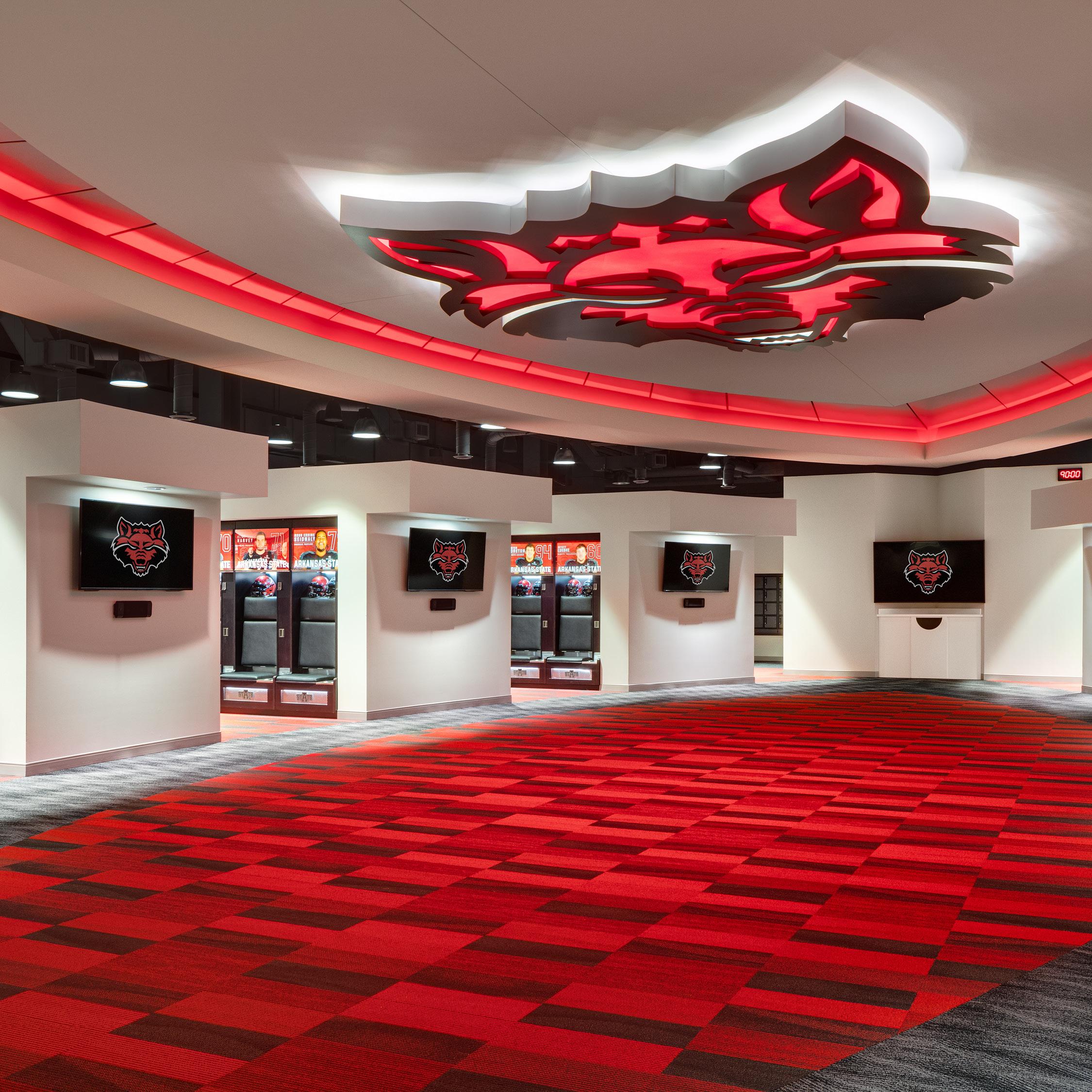 ASU Football opps locker room